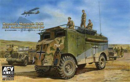 AFV 1/35 Rommels' Mammoth DAK AEC Armored Command Car Model Kit