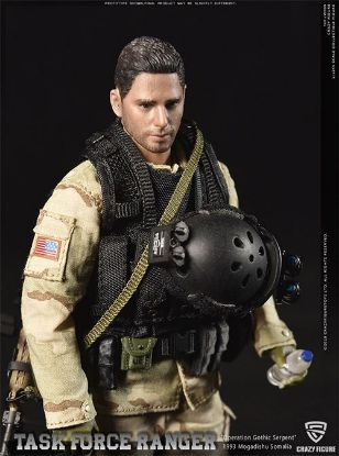 Crazy Figure 1/12 Master Sergeant Rangers Task Force 1993 Operation Gothic Snake