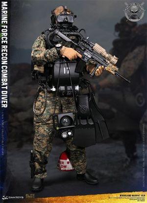 DAM Toys Marine Force Recon Combat Diver Woodland Marpat Version