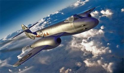 HK Models 1/32 Gloster Meteor F.4 Model Kit