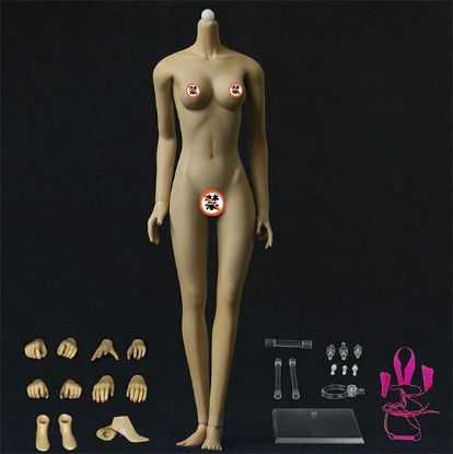 Jiaou Doll Middle Bust Seamless Female Body in Brown Skin