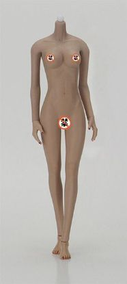Jiaou Doll Middle Bust Seamless Female Body in Skin Color