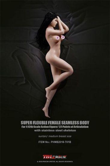 Phicen TBLeague 1:12 Super-Flexible Female Seamless Medium Bust Suntan Body