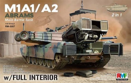 Rye Field Models 1/35 M1A1 Abrams w/Full Interior 2 in 1 Kit Model Kit