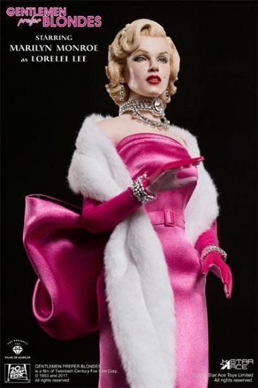 Star ACE Marilyn Monroe Lorelei Lee Pink Dress 1/6 Scale