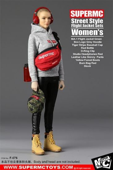 Super MC Toys Women's Street Style Flight Jacket Set