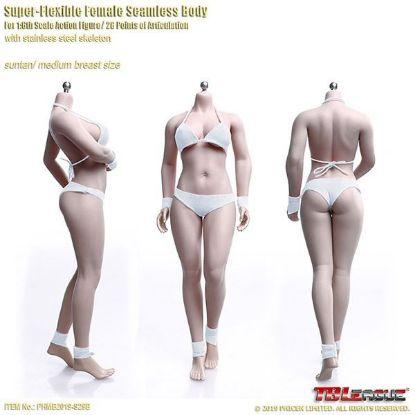 TBLeague Suntan Buxom Women TBLeague 1/6 Female Super-Flexible Seamless Body