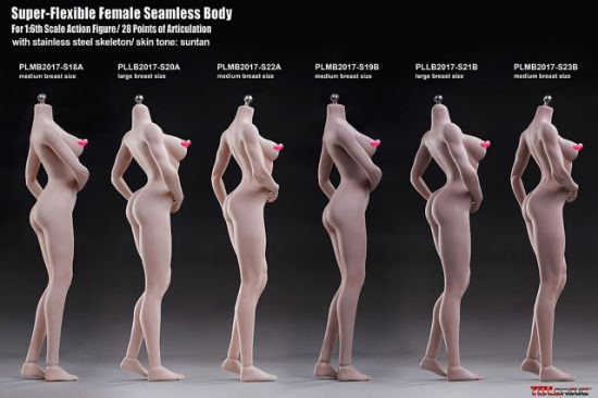 TBLeague Super Flexible Seamless 1/6 Female Large Bust Pale Body Series with Stainless Steel Skeleton