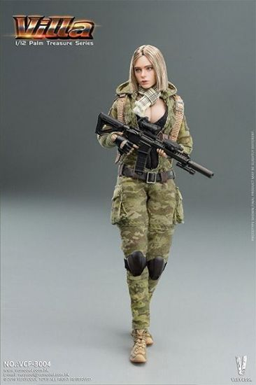 Very Cool MC Camouflage Women Soldier Villa 1/12 Scale