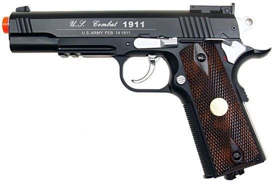 Wingun Combat 1911 Co2 Non-blowback Pistol Black