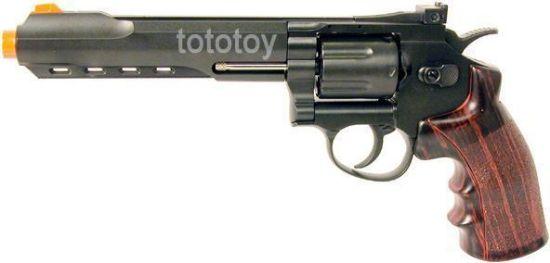 "Wingun Full Metal 6"" CO2 Revolver Black"