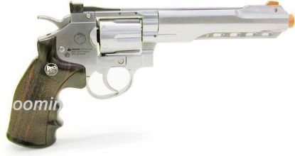 "Wingun Full Metal 6"" CO2 Revolver Silver"