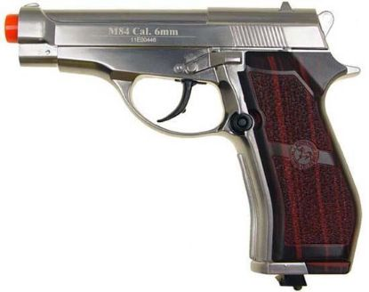 Wingun M84 Full Metal Co2 Non-Blowback Pistol Silver