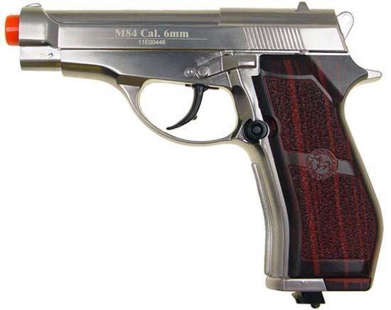Wingun M84 Full Metal Co2 Non-Blowback Pistol Silver
