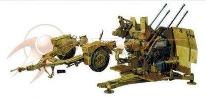 AFV 1/35 4cm x 2cm Flakvierling 38 Model Kit