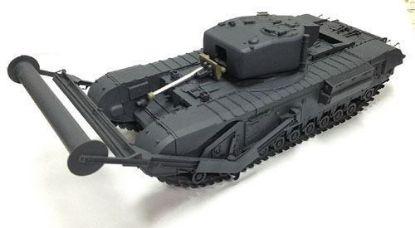 AFV 1/35 Churchill MK.IV TLC Laying Device & Carpet Type A Model Kit