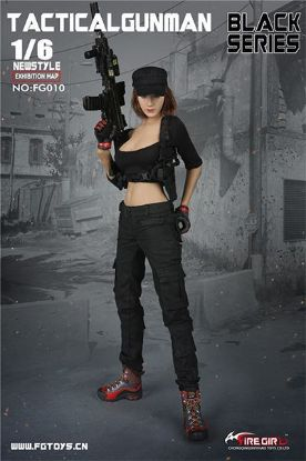 Fire Girl Toys Female Tactical Shooter Combat Uniform Army Black Accessory