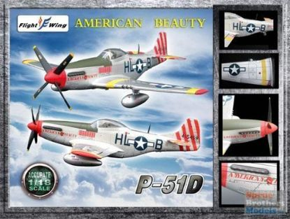 Flight Wings 1/18 P-51D WWII USAF 31st Fighter Group American Beauty