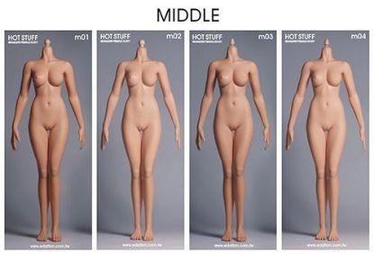 Hot Stuff 3rd Generation Female Middle Body Edation 1/6