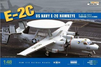 Kinetic 1/48 E-2C USN 4 Blades Model Kit
