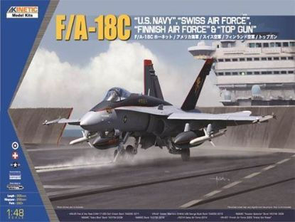 Kinetic 1/48 F/A-18C US Navy, Swiss Air Force, Finnish AF & Top Gun Model Kit