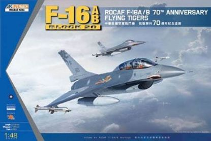 Kinetic 1/48 F-16A/B 70TH Anniversary Flying Tigers Model Kit