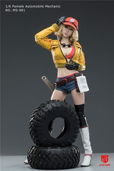 Star Man Female Automobile Mechanic 1:6 Action Figure