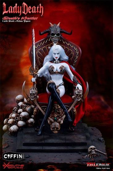 TB League Hell on Earth Death Dealer 2nd Ver Lady Death Death's Warrior 1:6 Action Figure DELUXE
