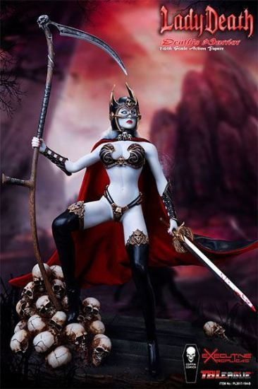 TB League Hell on Earth Death Dealer 2nd Ver Lady Death Death's Warrior 1:6 Action Figure Only