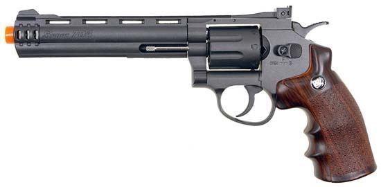"""Wingun 6"""" CO2 Revolver  w/Nylon Rotary Drum & Barrel"""