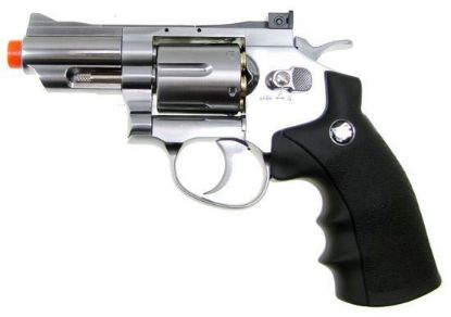 "Wingun Full Metal 2.5"" CO2 Revolver  Silver"