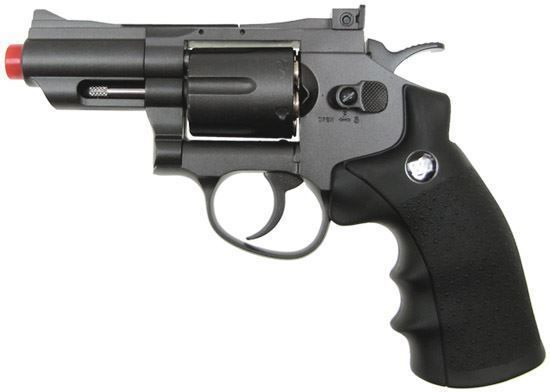 "Wingun Full Metal 2.5"" CO2 Revolver Black"