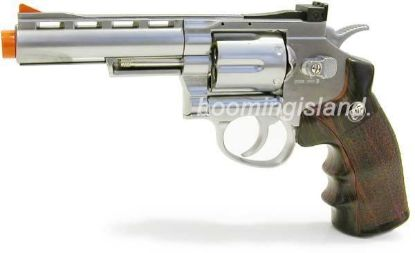 "Wingun Full Metal 4"" CO2 Revolver Silver"
