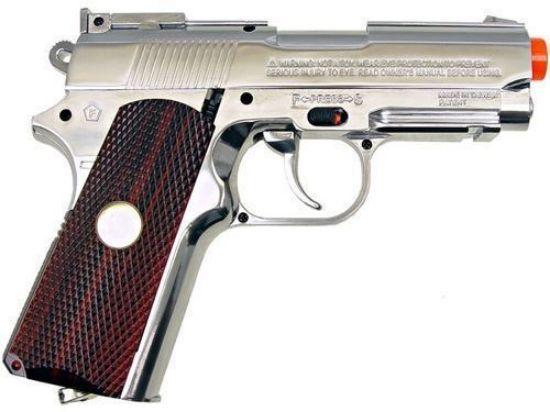 Wingun Mini Tactical 1911 Co2 Non-Blowback Pistol Silver