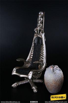 Black Box Toys A Dark Star's World H.R.G Masterpiece Designer Chair Metallic